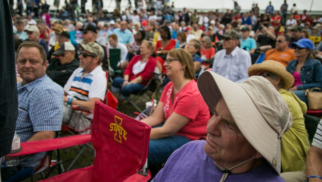 Scenes and Candidates at Senator Joni Ernst's inaugural Roast and Ride on Saturday, June 6, 2015 in Boone, IA. Brian Powers/The Register