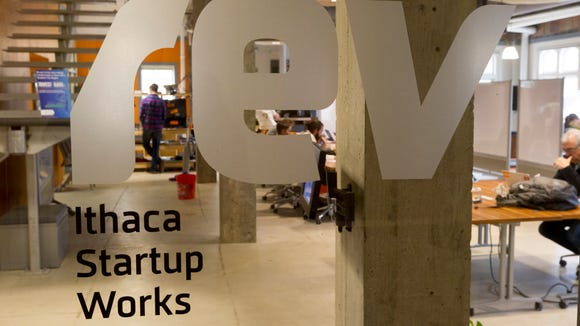 REV Ithaca Startup Works is located on the second floor of the Carey building in Downtown Ithaca. REV will expand to the third floor when the construction of the upper floors are completed in the spring.