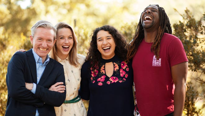 Nashville Rep's Ingram New Works Festival 2018 lineup features the staged readings of four new plays, including new work by Nashville Rep playwright-in-residence Nate Eppler, left, Ingram New Works Lab playwrights Tori Keenan-Zelt, Cristina Florencia Castro and James Anthony Tyler.