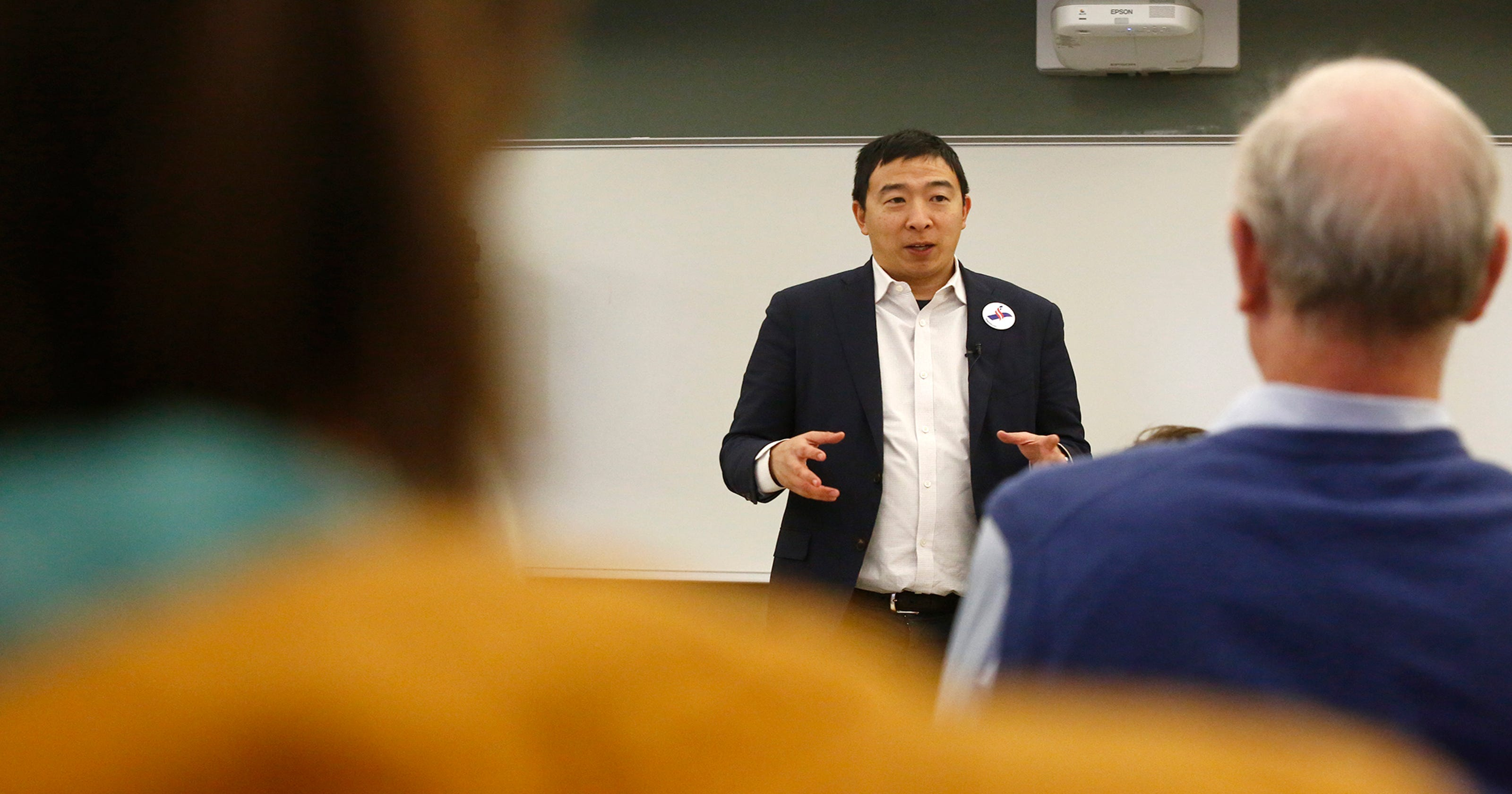 Andrew Yang in Iowa: 'How much do you know about me? Almost nothing? Terrific.'