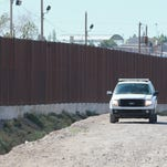 A U.S. Border Patrol vehicle parked off of West Paisano in El Paso Monday.