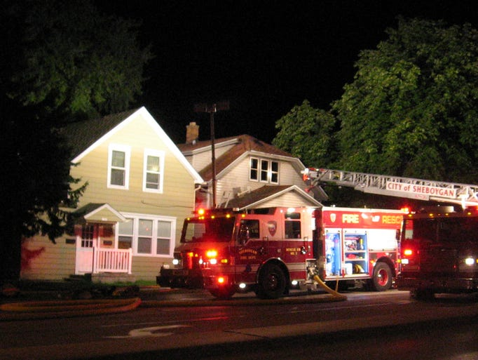 Scenes from a house fire Wednesday July 30, 2014 at the 1700 Block of Erie Avenue in Sheboygan.