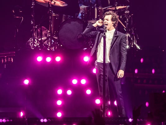 Harry Styles and Kacey Musgraves concert at Bankers Life Fieldhouse.