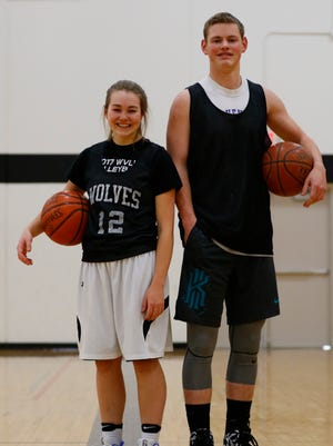 Wisconsin Valley Lutheran junior Cassidy Maroszek, left, and senior Clay Schult recently reached 1,000 career points within a week of each other.