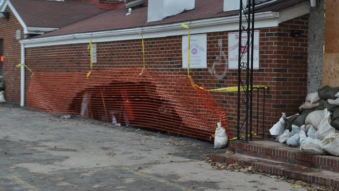 In this 2012 photo, the Lyndhurst Elks Lodge on Park Avenue suffered heavy damage as a result of Hurricane Sandy.