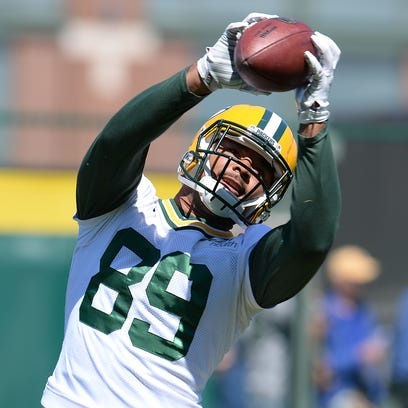 Green Bay Packers tight end Richard Rodgers during