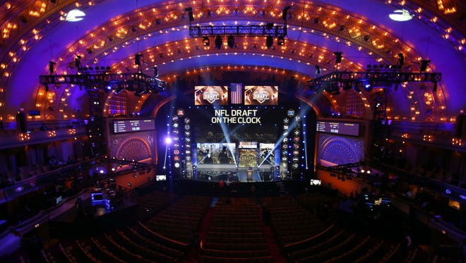 Apr 30, 2015: A general view of the stage before the 2015 NFL Draft at the Auditorium Theatre of Roosevelt University.