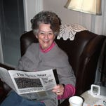 Mary Alice Kinman is a loyal reader of The News-Star. She begins her day with coffee and the paper, reading it in her favorite chair.