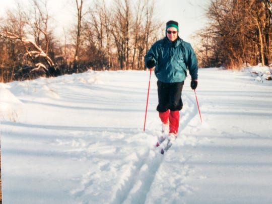 Tom Gross cross country skiing.