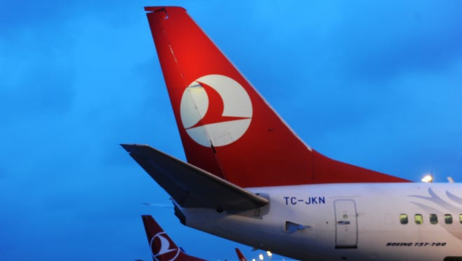 This file photo from March 16, 2013, shows a Turkish Airlines planes at the Ataturk Airport in Istanbul.