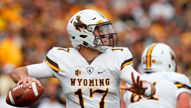 Wyoming quarterback Josh Allen is a top candidate to be the No. 1 overall pick in the NFL Draft.
