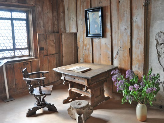 The humble Luther Room in Wartburg Castle is where Martin Luther spent 10 months translating the New Testament into German.
