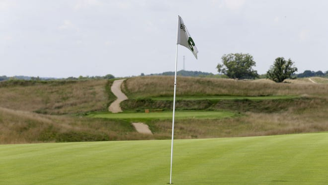 Hole No. 6 at Erin Hills.