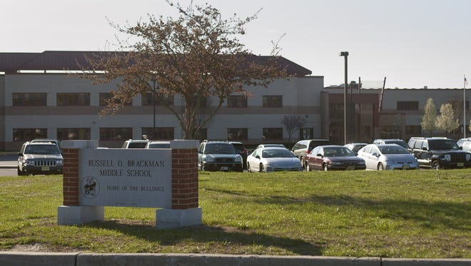 Russell O. Brackman Middle School in Barnegat Township is shown in this 2014 photograph.