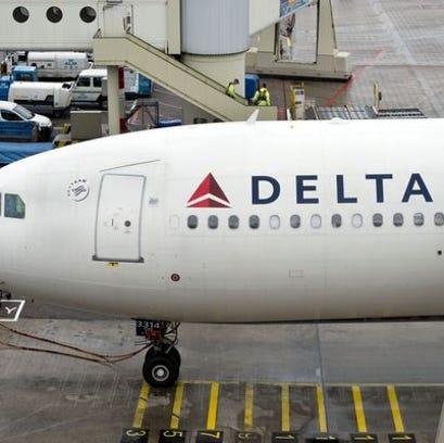 Delta Airplane - Stock Photo