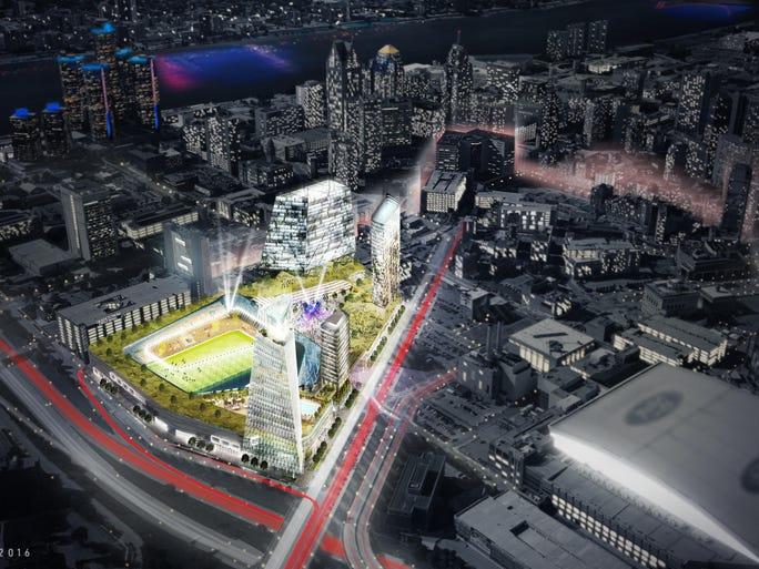 Vision for MLS soccer in Detroit