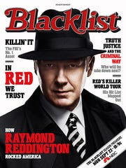 """James Spader, in character as criminal mastermind Raymond Reddington from the NBC series """"The Blacklist,"""" will be featured on 11 mock magazine covers, on billboards and online, to promote the network's top drama before its Sept. 22 return."""