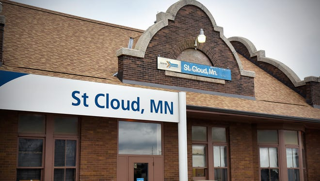The Amtrak depot along the tracks in east St. Cloud is pictured Wednesday, March 30.
