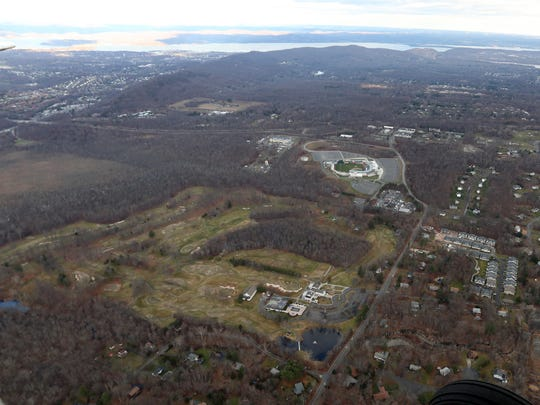 An aerial view of Palisades Credit Union Park, where the Rockland Boulders play baseball.