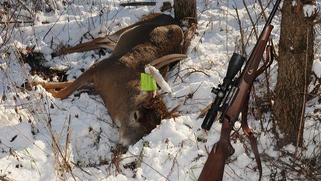 Wisconsin hunters registered nearly 4 percent more bucks (94,166) during November's gun-deer season than they did during the November 2014 gun season, 90,701.