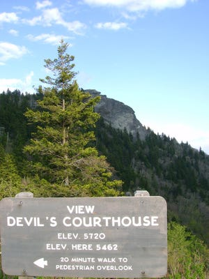 A section of the Blue Ridge Parkway near Devil's Courthouse will close starting Monday.