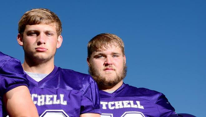 Mitchell seniors Alex McKinney, left, and Todd Self.