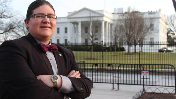 Dahkota Kicking Bear Brown at the White House the day after he was selected to serve on the National Advisory Council on Indian Education. (Photo: Vincent Schilling)