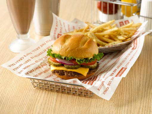 The classic smashburger. (Photo: Courtesy of Integrated Corporate ...