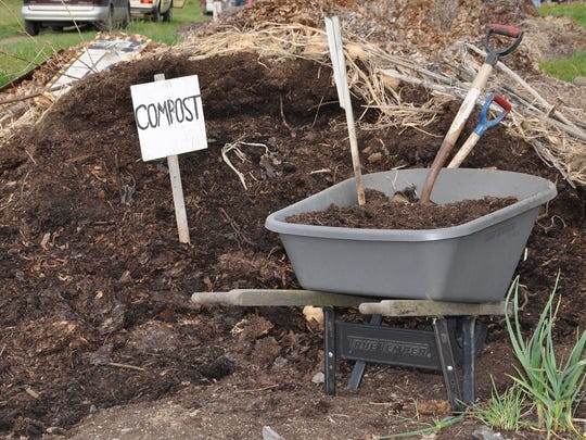 Compost is piled up at Oregon State University's student-run organic farm in Corvallis. Starting your own compost pile will feed plants year round.