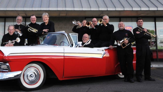 The Trumpet Geezers will join the San Juan College Symphonic Band for a concert Friday night in the Henderson Fine Arts Center Performance Hall on the college campus in Farmington.