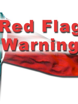 A red flag warning has been issued for Friday in the western Nevada Sierra Front.
