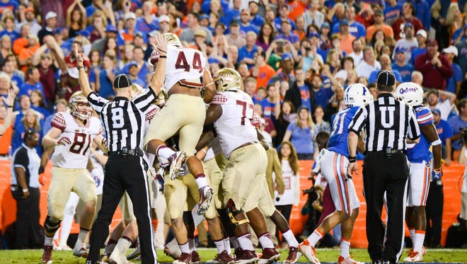 The Florida Statse Seminoles defeated the Florida Gators by a score of 27-2 at Ben Hill Griffin Stadium in Gainesville, FL. The Seminoles end their season with a winnig record of 10-2.