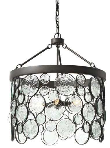 Emery recycled glass chandelier, $699 at Pottery Barn.