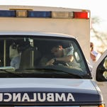 A cyclist is in critical condition after being struck by a dump truck Friday afternoon.