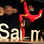 Members of the gravity defying Tippy Toe Dance studio entertain the packed Saturday afternoon crowd at TEDx Salem.