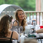 Sarah Myers enjoys her time Saturday at the Kamper Avenues Rhythm & Blues Festival at the Keg and Barrel.