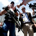 Second Amendment supporter at the 2016 Republican National Convention.