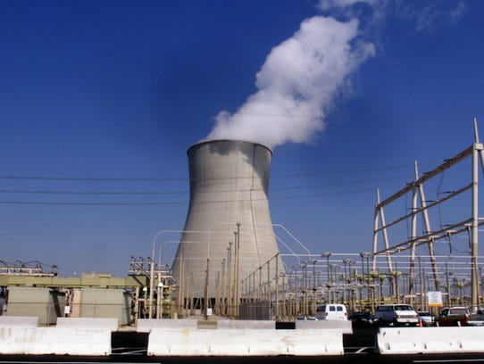 Natural draft cooling tower of Salem nuclear reactor