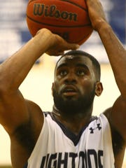 Lehigh's Delshawn Green shoots a free throw during