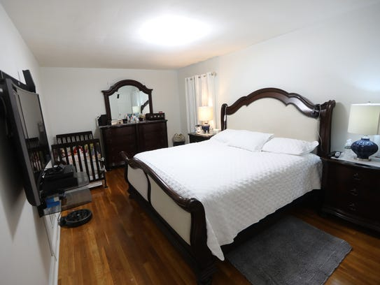 This bedroom in Englewood was once the room where Otto