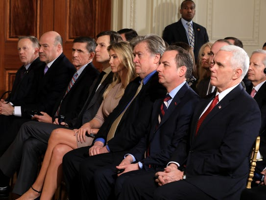 Ivanka Trump in front row at joint press conference