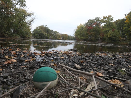 Last October, low water levels revealed rocks and debris