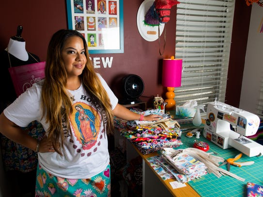 Elena Flores, founder of Sew Bonita, in her home studio