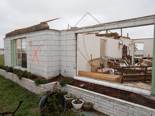 Hurricane Harvey damaged this home on Glass Avenue.