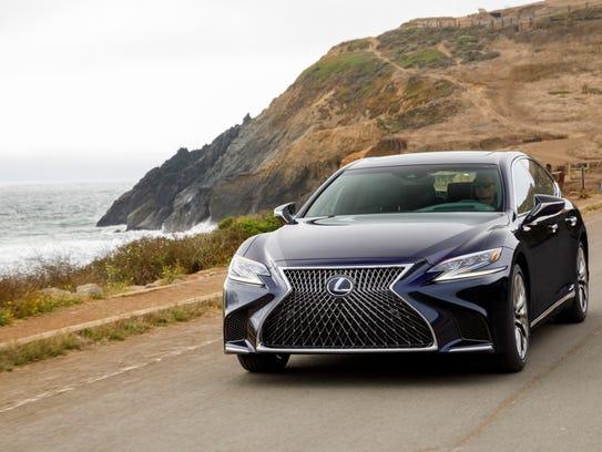 Despite its larger size, the new Lexus LS 500 features