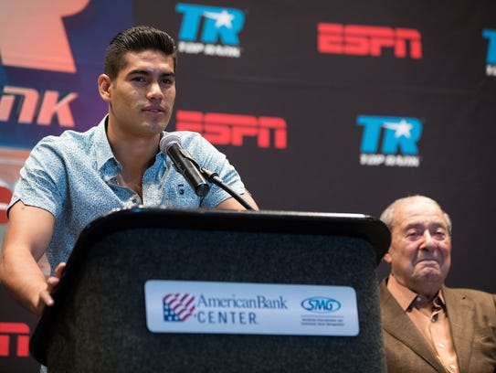 "Boxer Galberto  ""Zurdo"" Remirez speaks during the"