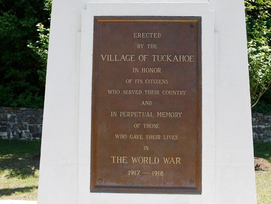The World War 1 memorial in Tuckahoe on May 24, 2018.