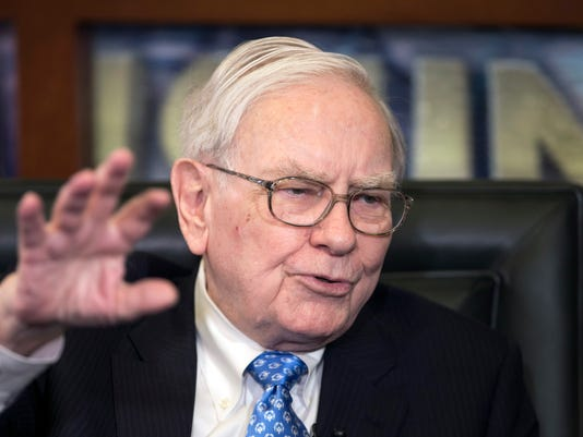 Warren Buffett's total pay increases.