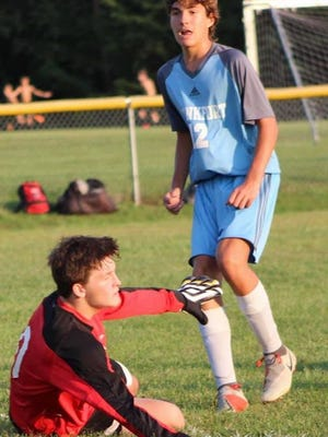 Frankfort freshman Cameron Lynch was impressive in his debut performance. Tribune photo by Chapin Jewell