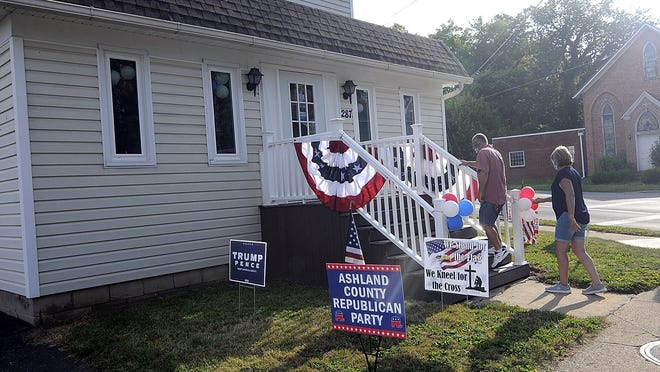 The Ashland County Republican Party held an open house for its campaign headquarters at 287 W. Main St. in Ashland on the corner of Broad Street on Wednesday from 6 to 8 p.m.